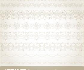 Retro seamless borders decor vector set 15