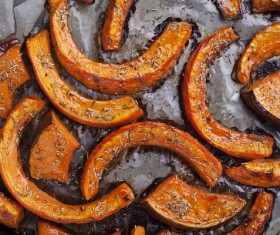 Roasted pumpkin Stock Photo