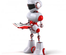Robot learning Stock Photo