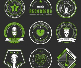 Rock music logos vector