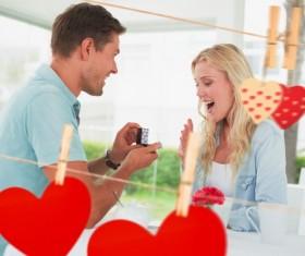 Romantic marriage proposal Stock Photo 03