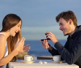 Romantic marriage proposal Stock Photo 04