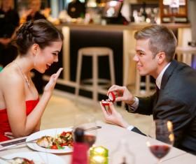 Romantic marriage proposal Stock Photo 05