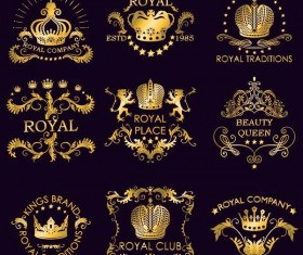 Royal luxury labels vector set