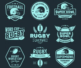 Rugby labels vector