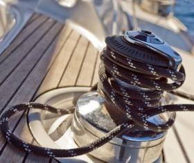 Sailboat Bolt rope close-up Stock Photo