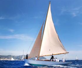 Sailboat at sea Stock Photo 02