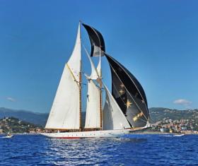 Sailboat at sea Stock Photo 03