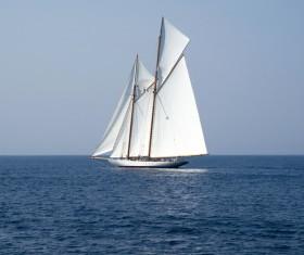 Sailboat at sea Stock Photo 04
