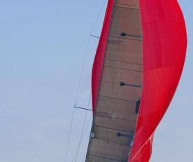 Sailboat at sea Stock Photo 05