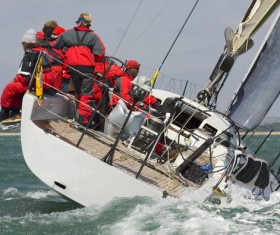 Sailboat at sea Stock Photo 06