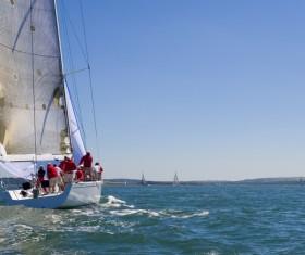 Sailboat at sea Stock Photo 07