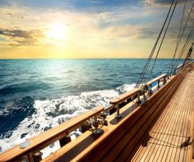 Sailboat deck Stock Photo