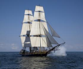 Sailboat on the sea Stock Photo 01
