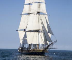 Sailboat on the sea Stock Photo 02