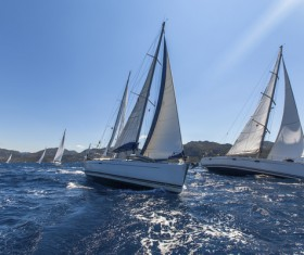 Sailboat race Stock Photo 01