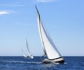 Sailboat race Stock Photo 02