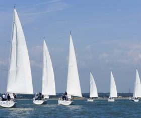 Sailboat race Stock Photo 03