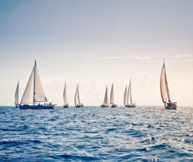 Sailboat race Stock Photo 04