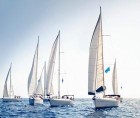 Sailboat race Stock Photo 05
