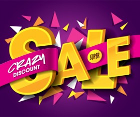 Sale background purple vector