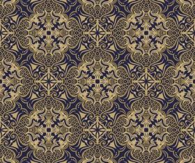 Seamless Damask Wallpaper vector 02