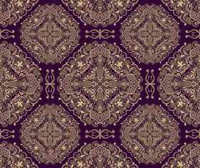 Seamless border in Victorian style vector 01