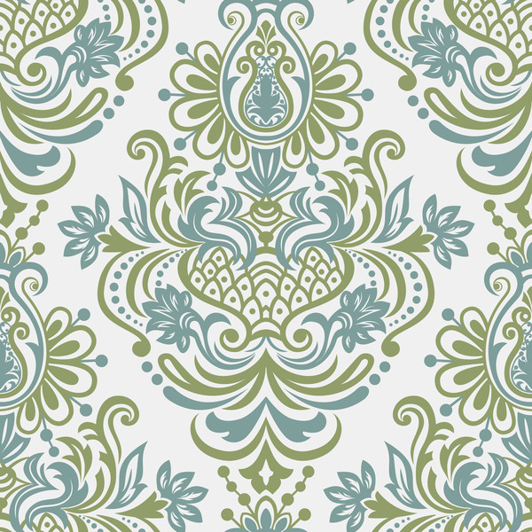 Seamless border in Victorian style vector 02