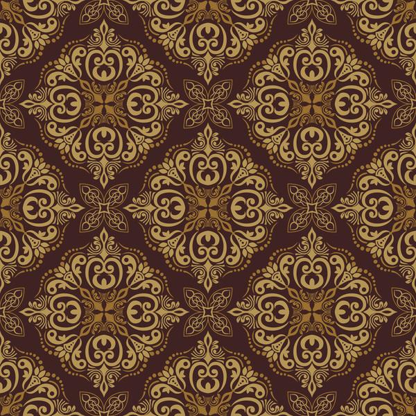Seamless luxurious wallpaper vector 01