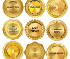 Shining golden badge vectors