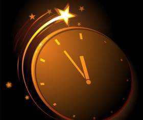 Shining stars with clock vector background