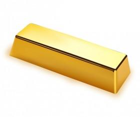 Shiny gold bar vector illustration 01