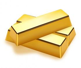 Shiny gold bar vector illustration 02