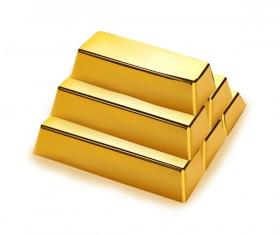 Shiny gold bar vector illustration 03