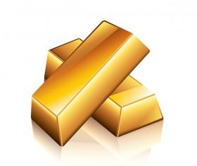 Shiny gold bar vector illustration 04