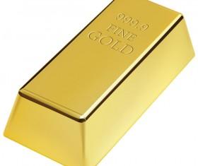 Shiny gold bar vector illustration 06