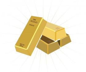 Shiny gold bar vector illustration 07