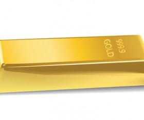 Shiny gold bar vector illustration 08