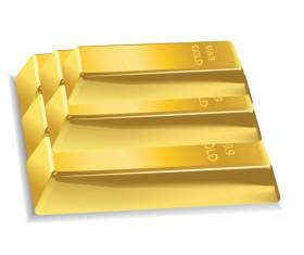Shiny gold bar vector illustration 09