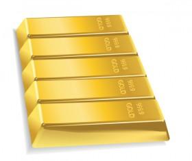 Shiny gold bar vector illustration 10