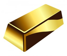 Shiny gold bar vector illustration 11
