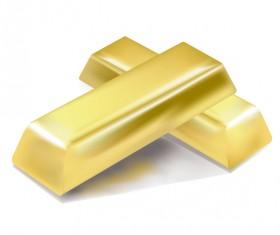 Shiny gold bar vector illustration 12