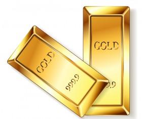 Shiny gold bar vector illustration 13