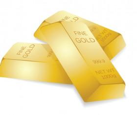Shiny gold bar vector illustration 14