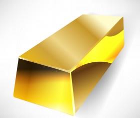 Shiny gold bar vector illustration 15