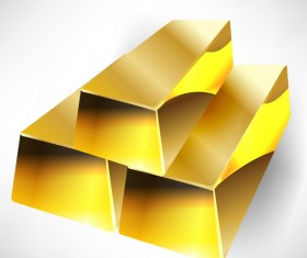 Shiny gold bar vector illustration 16