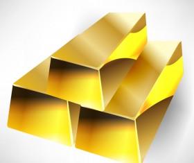 Shiny gold bar vector illustration 16