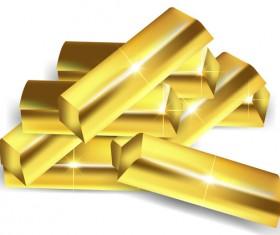 Shiny gold bar vector illustration 17