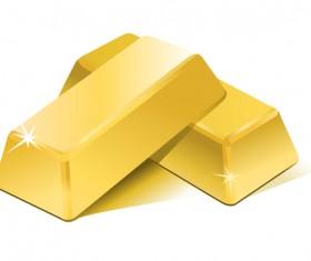 Shiny gold bar vector illustration 18