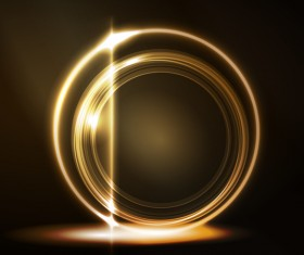 Shiny light ring with dark background vector
